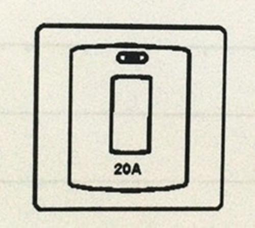 20A DP SWITCH(WATER HEARER)