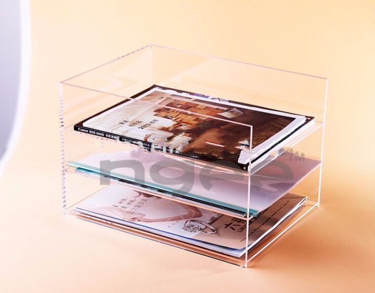 acrylic file book desktop organizer