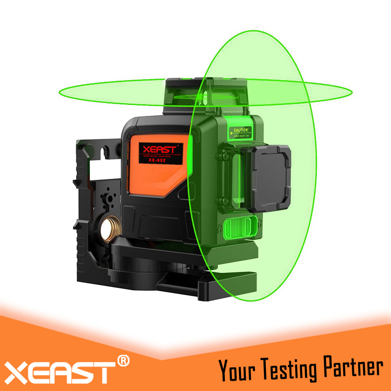 XEAST XE-902G Green Laser Level machine 360 degree 3D 8 lines laser level Waterproof Dropresistant L