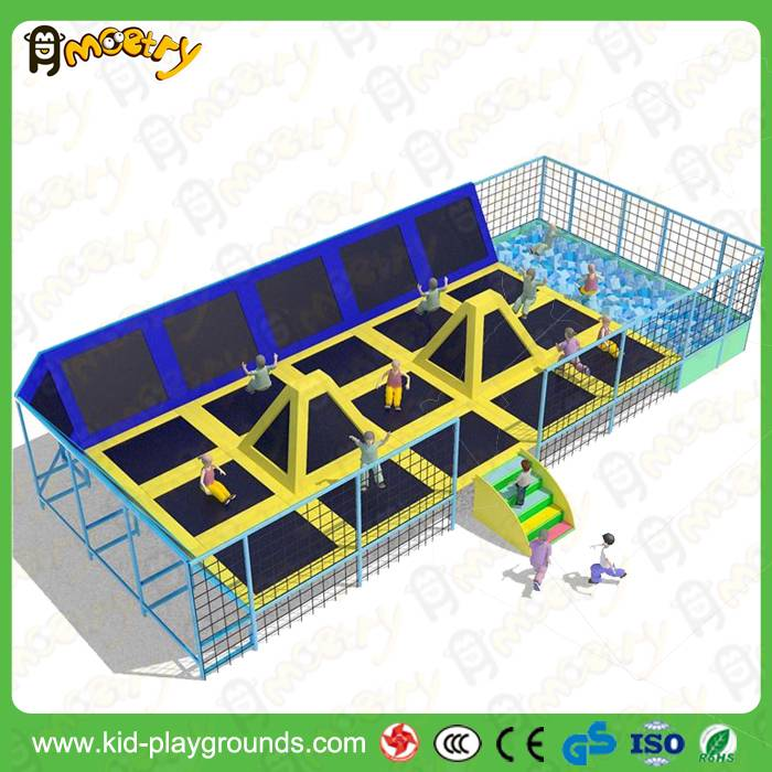 Made in China factory price large Dodgeball Trampoline Park in Trampolines