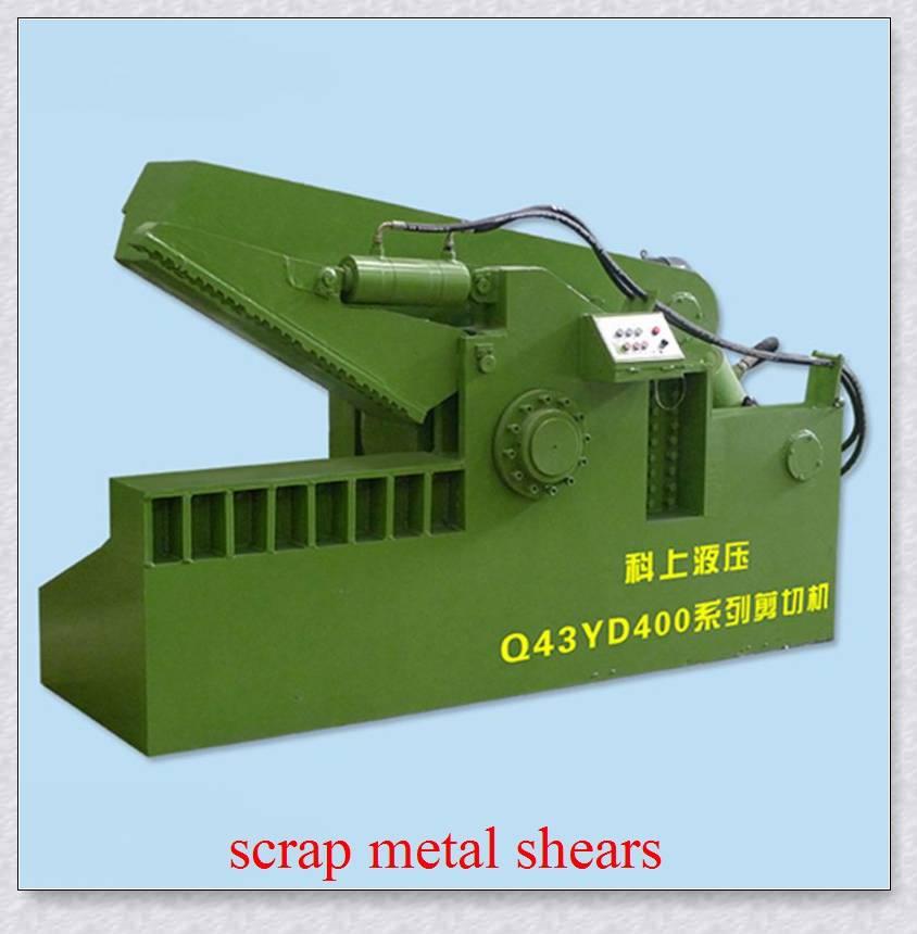 Scrap metal alligator cutting machine