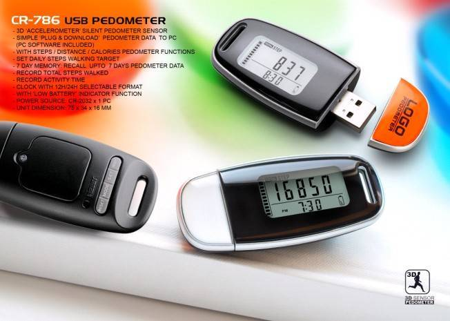 USB pedometer promotional gifts