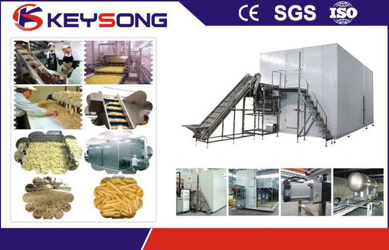 Frozen french fries / frozen potato chips processing machine