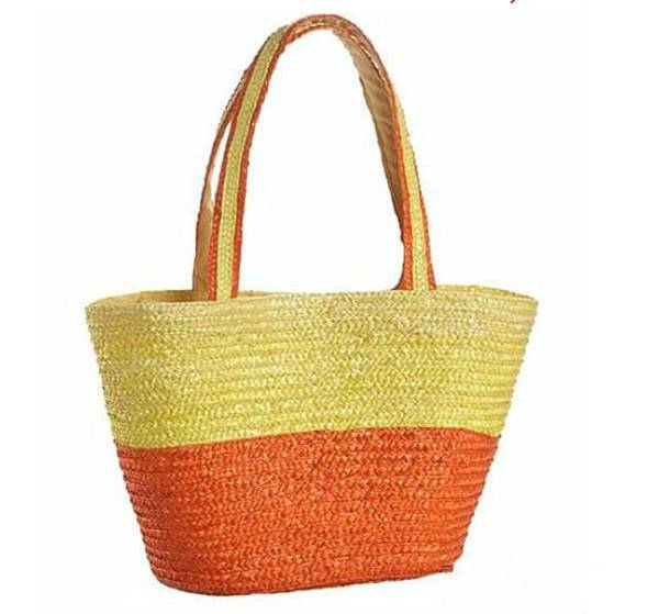 LUDA Striped Wheat Straw Bags