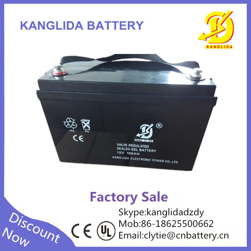 kanglida 12v 100ah lead acid solar battery