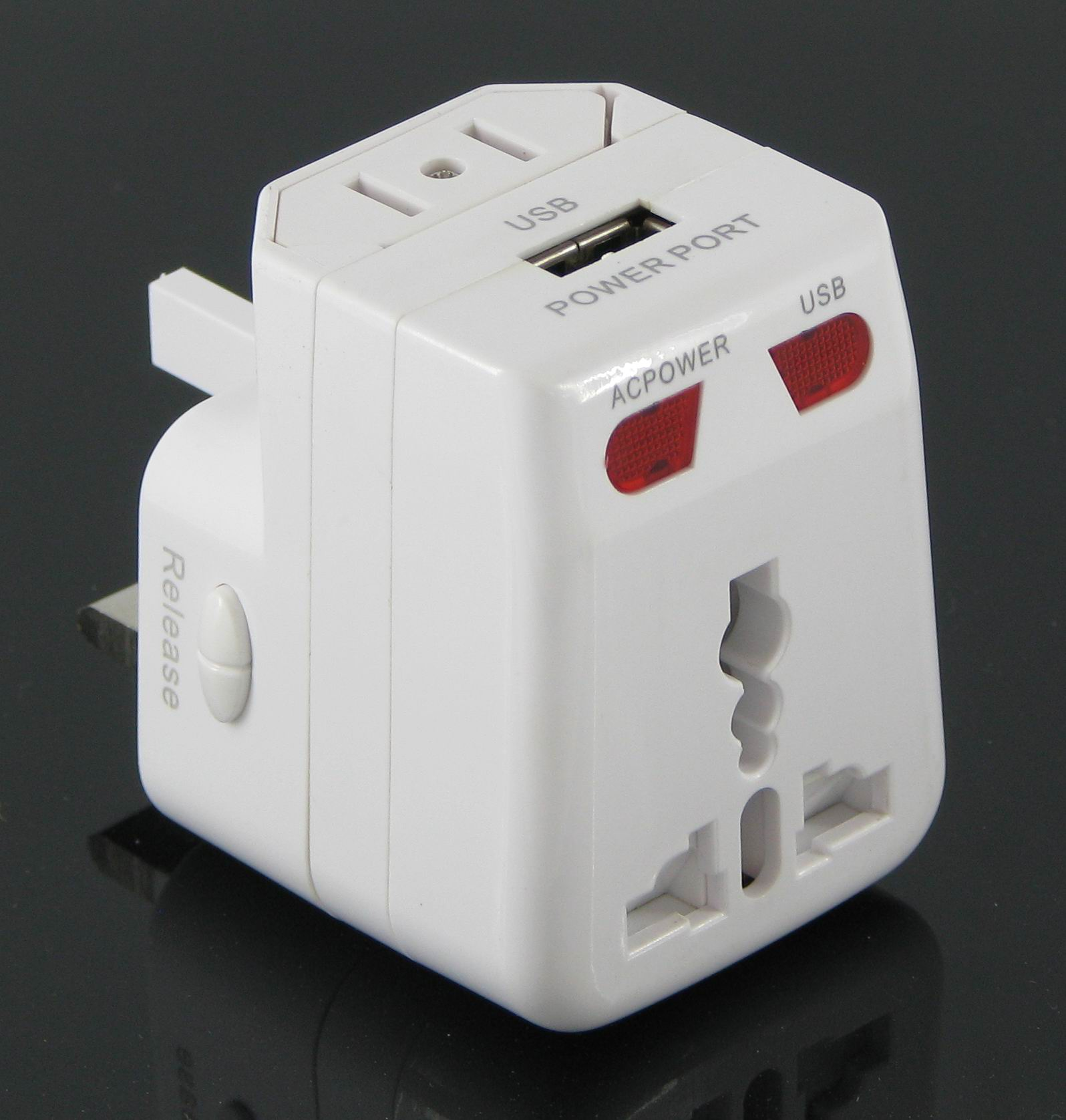 Universal Adapter with USB, Suitable for Traveling and Promotional Purposes