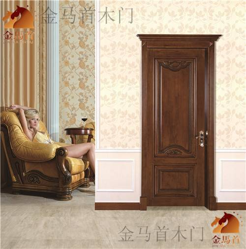 Shandong supplier with or without glass solid wooden door