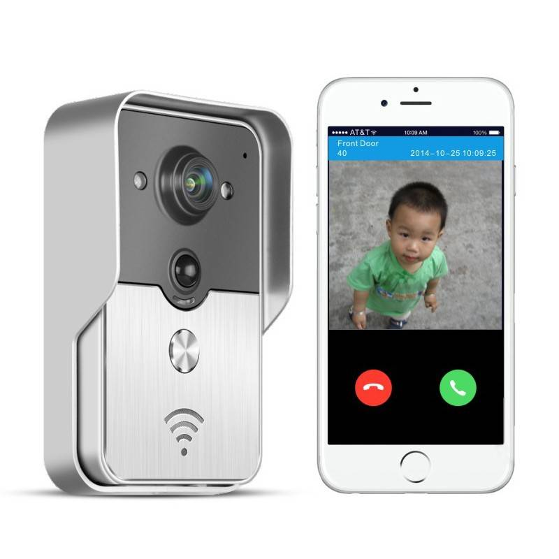 H.264 720P Wifi doorbell camera wireless Video Doorbell system Support Wireless unlock iOS Android A