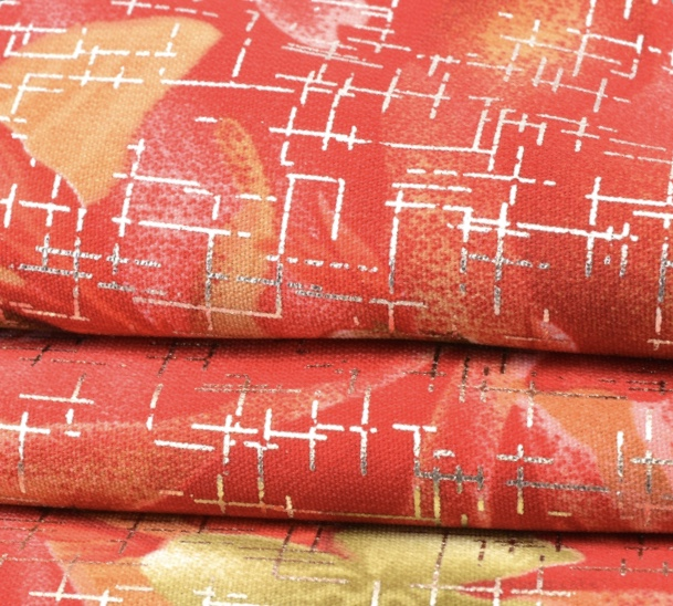 44'' width 100% polyester wool peach metallic printed high quality african fabric