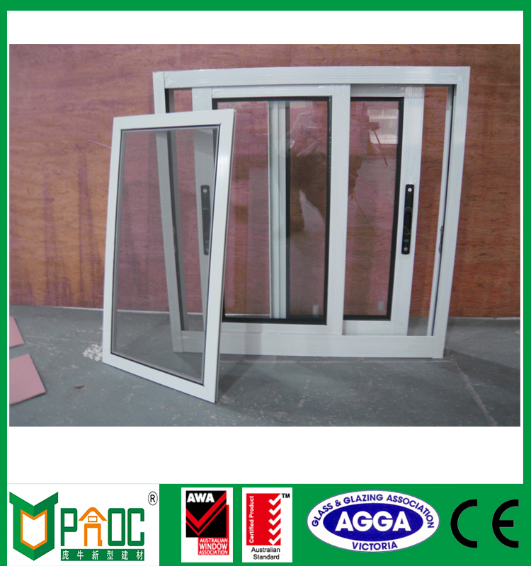 Construction doors and windows aluminum sliding window with glass