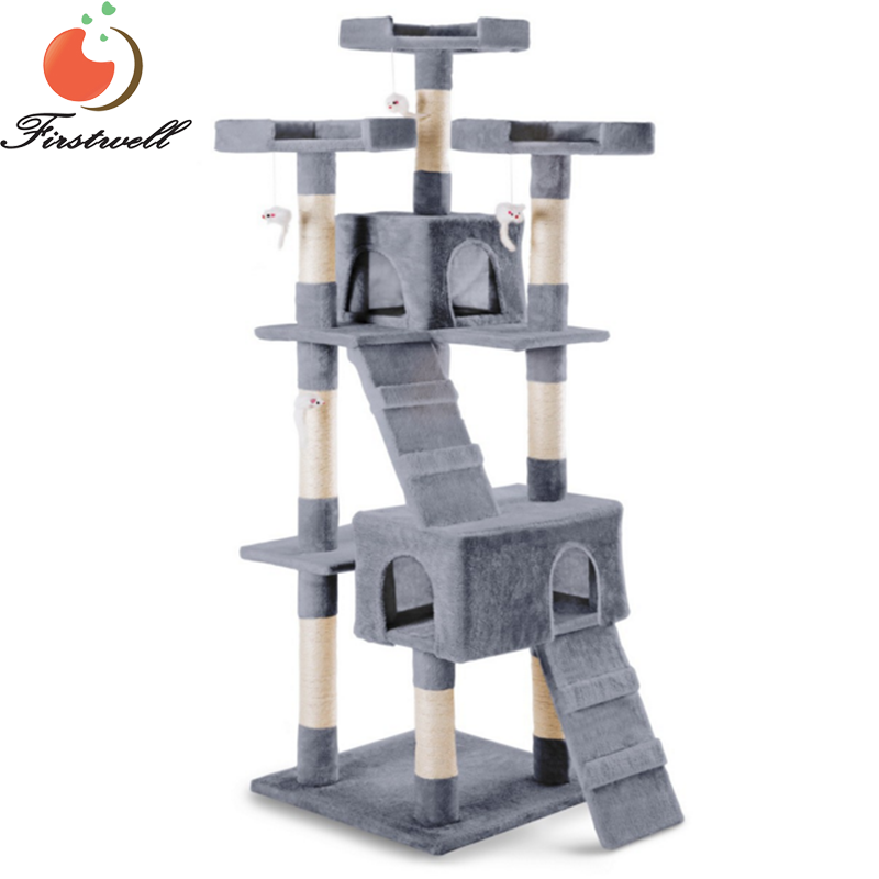 Scratching Cat Tree Playground Game Pulls Scratches for Cat 170cm