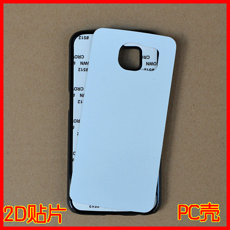 2D sublimation mobile phone case for Samsung galaxy s6 PC sublimation cover case