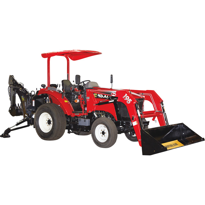 NorTrac 45XTC Tractor with Cab, Front End Loader, Backhoe and Ag Tires - 48 HP, 4-Wheel Drive