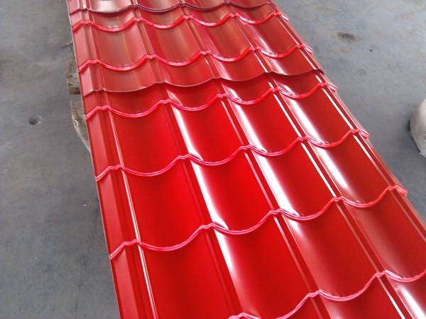 Color-coated corrugated  sheet