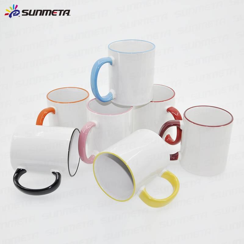 11oz blank sublimation heat press ceramic color mug
