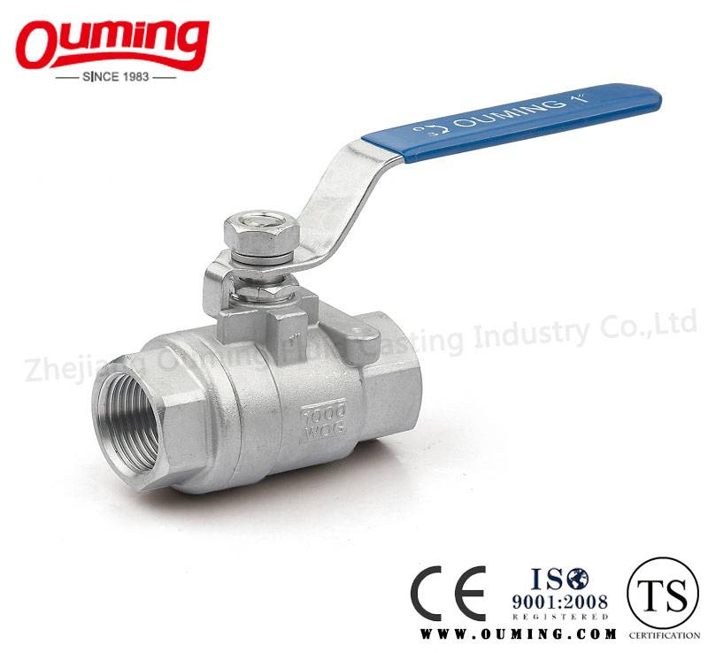 2 PC Stainless Steel Threaded Floating Ball Valve