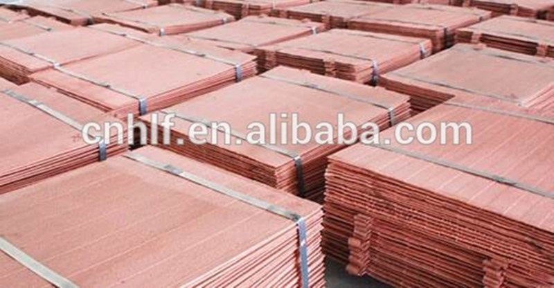 Nonferrous metal copper cathode with high-purity