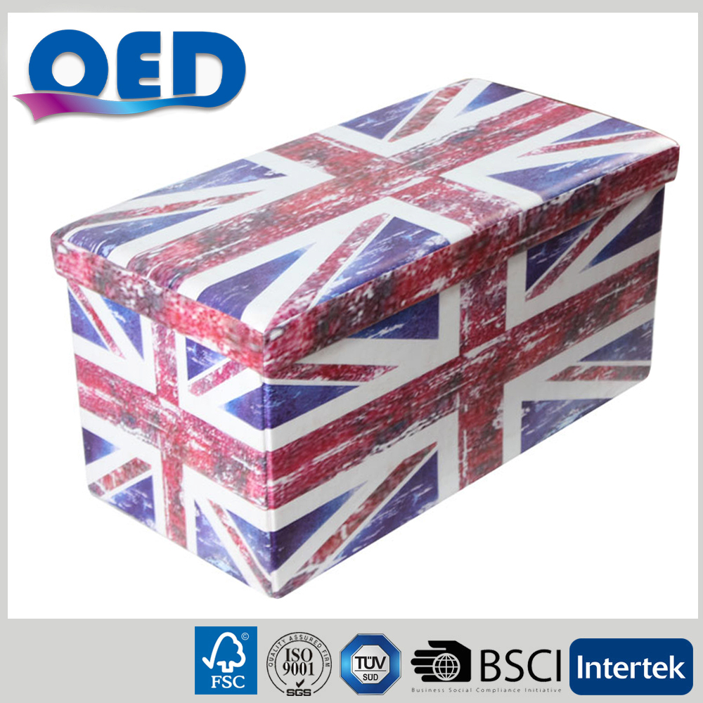 furniture living room storage stool foldable printing the Union Flag