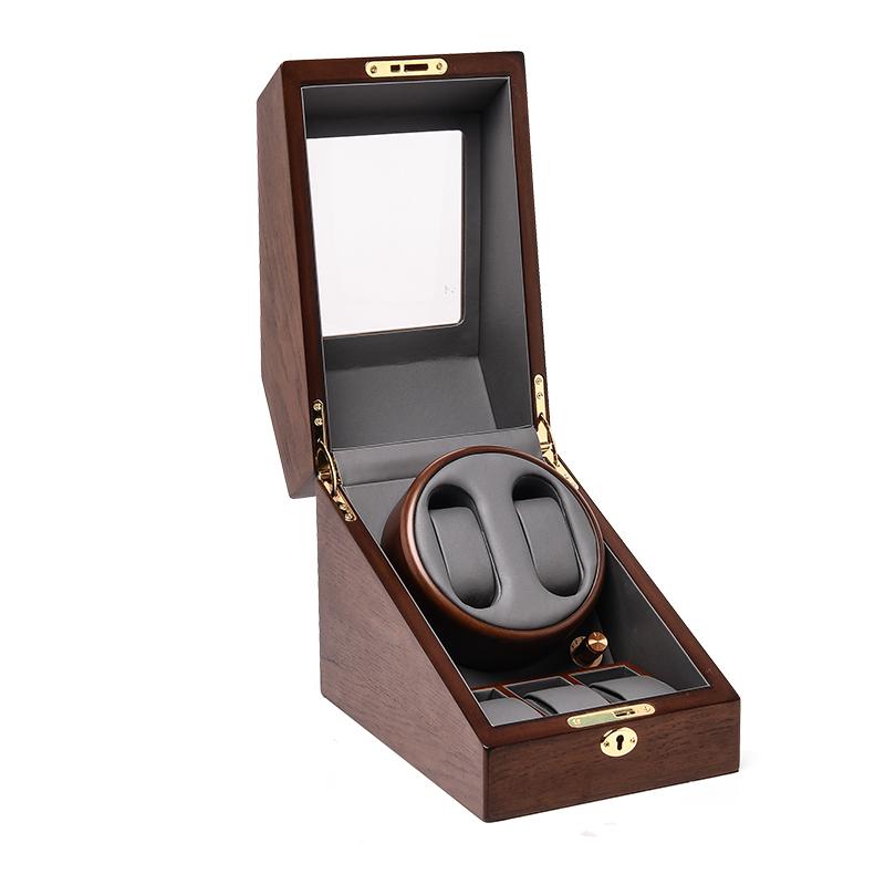 Automatic Watch Winder Wooden Storage Case Display Box for Watches Quiet Motor Matt Finishing