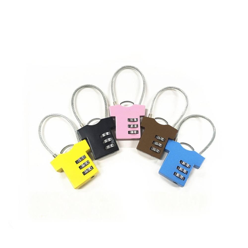 T-shirt shape lock 3 digital combination lock for bag safe