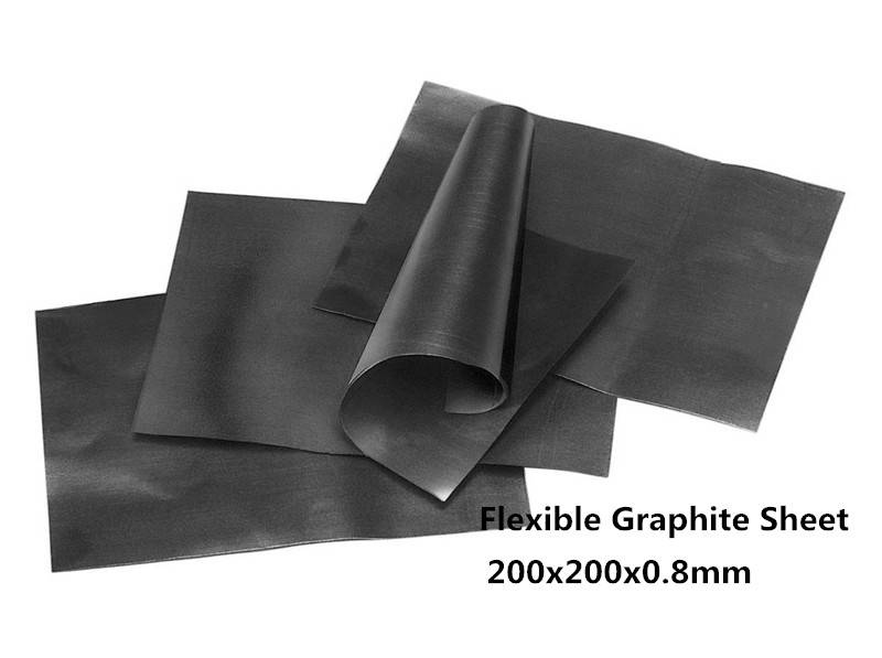200x200x0.8mm Flexible Graphite Sheet 10pcs with high heat conducting Between Led particle base and