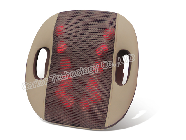 CL-748 Back Massager Cushion with 3D Shiatsu Kneading and Heat.