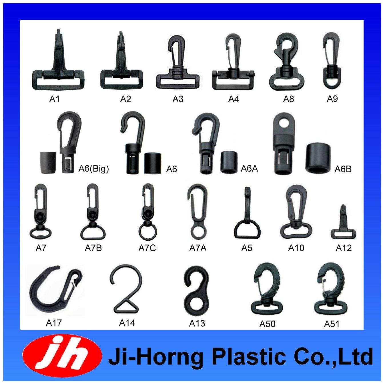 Plastic Snap Rotational Hook/Bungee Cord Hook Buckle(Bag Accessories)