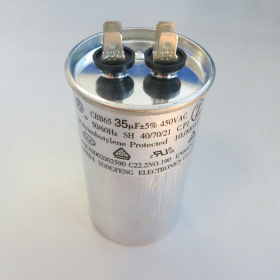 Air Conditioner Capacitors CBB65(Oval,Aluminum,Double)