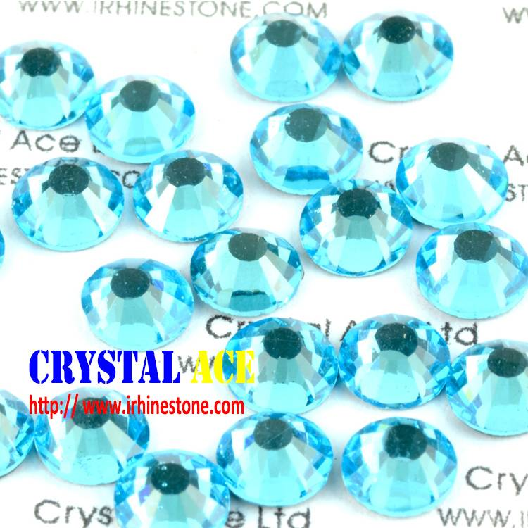 1440pcs  DMC Aqua bohemica crystal hotfix iron on heat transfer flat back rhinestone for garment dec
