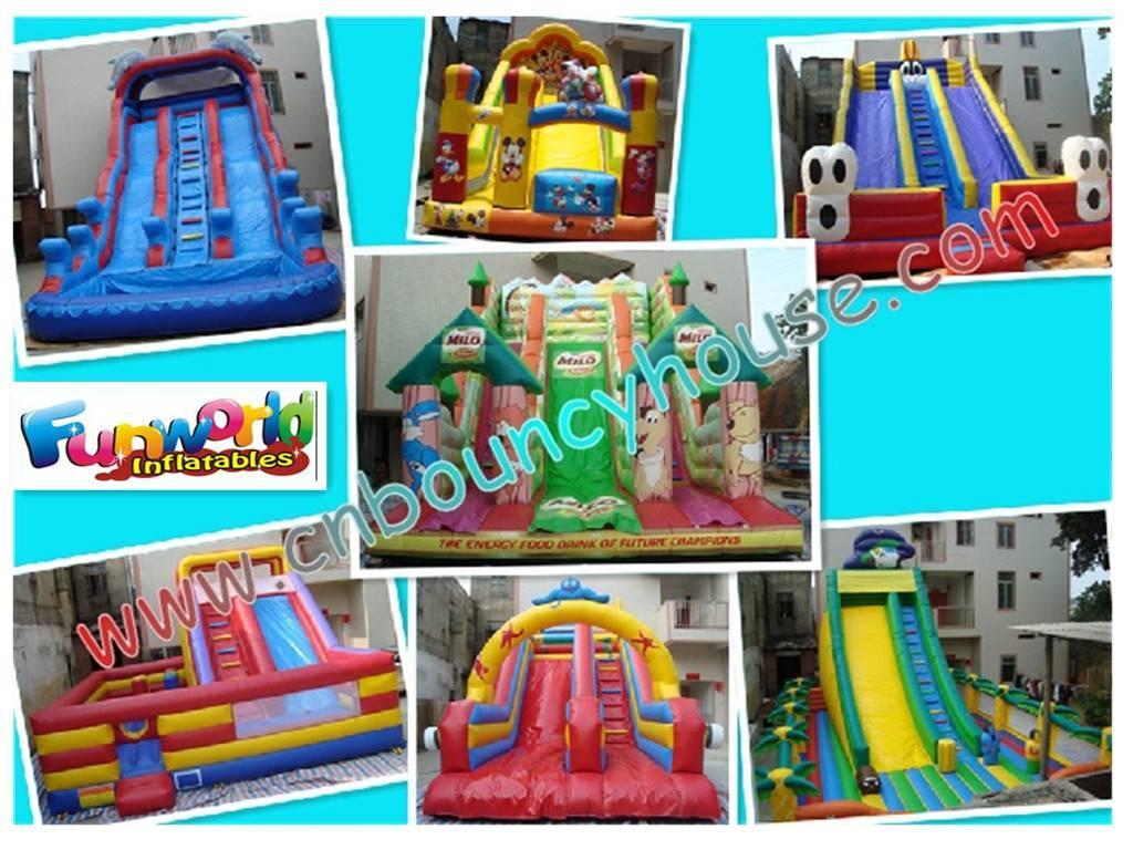 2011 hot sale inflatable slide / Water&dry slide / Bouncy slide for rental business