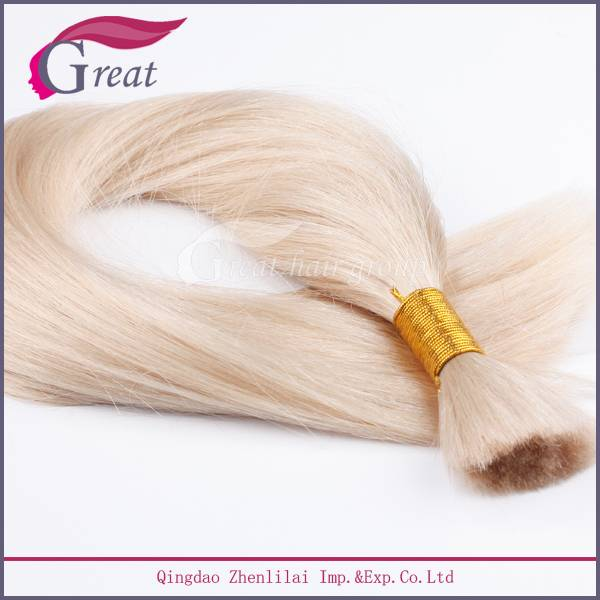Greathairgroup Tangle free Blonde color hair bulk