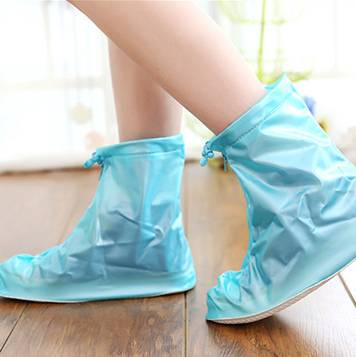 Customerized Cyan Cool Ankle Rain Boot Over Shoe Cover