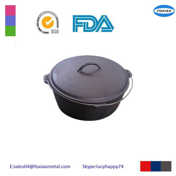 Camping cast iron cookware set