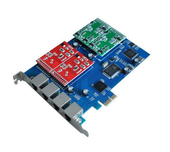 SinoV-400E 4 fxs/fxo pci-e asterisk card for voip ippbx