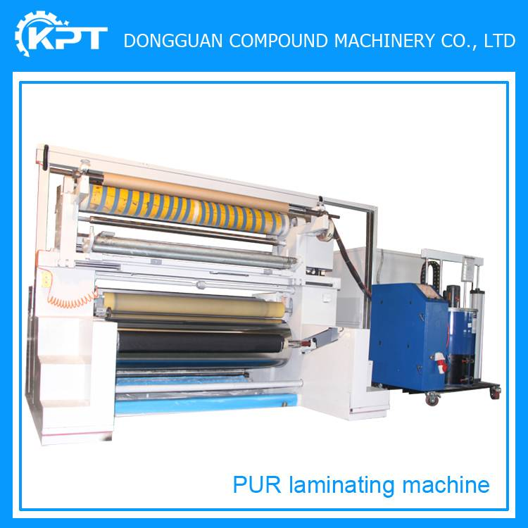 pur hot melt glue fabric to leather laminating machine