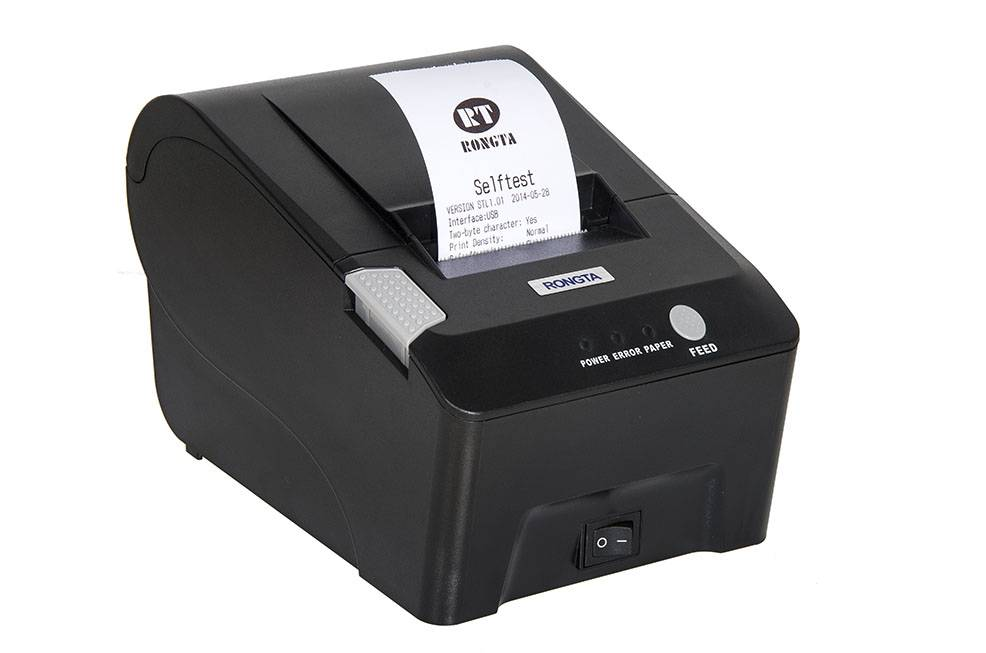 2-inch POS receipt printer pos58, mini size, easy paper loading, cheap price, one year warranty