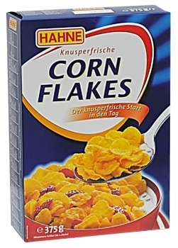 HAHNE Cornflakes 375g, HAHNE Frosted Flakes , HAHNE Chococornflakes 375g., AHNE Choco Rice 375g, HAH