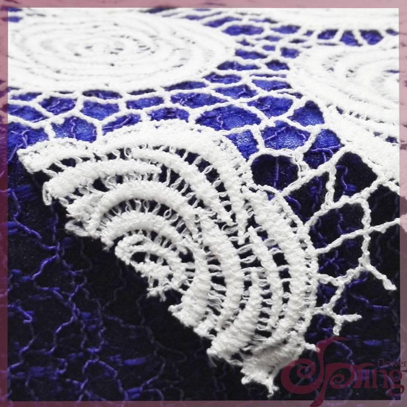 Guipure flower patten lace fabric