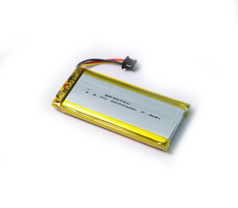 High rate lithium polymer battery 803270C 3.7V 2000mAh