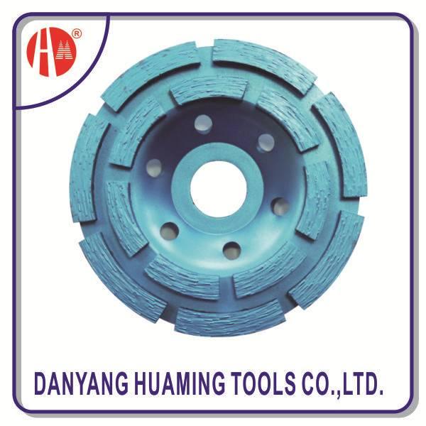 power tool diamond double row cup grinding wheel