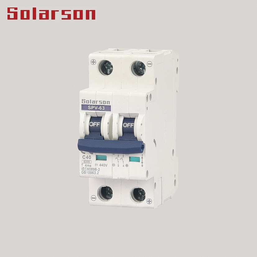 500VDC Mini Circuit Breaker for Solar Energy Photovoltaic system 4P 63A