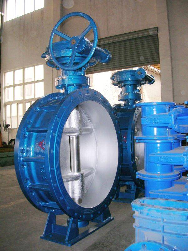 Three eccentric double flange butterfly valve