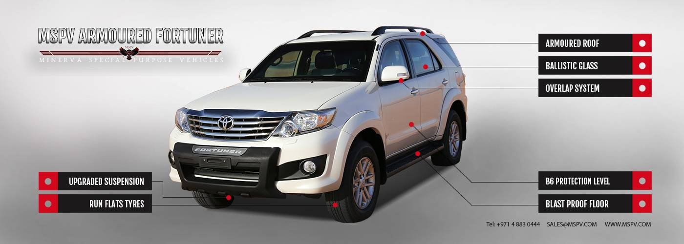 Armoured & Bulletproof Toyota Fortuner