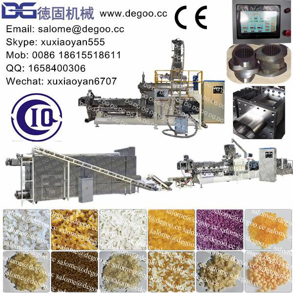 Artificial/Enriched/Instant/Reconstituted/Man-made/Nutritional Rice Extruder Machine Production Line