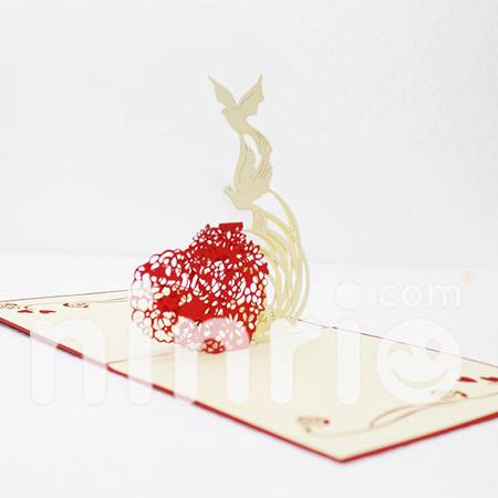 Dove Pop Up Card Handmade Greeting Card
