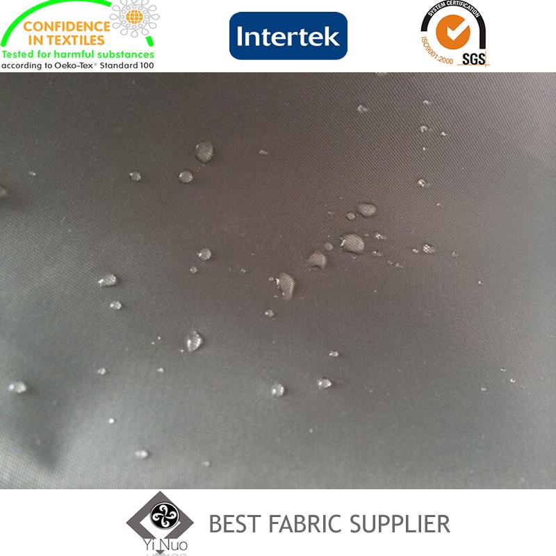 100% 275t Nylon Twill W/R with PU Coating Coat Fabric