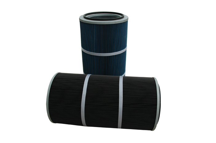 Cylinder cartridge air filter