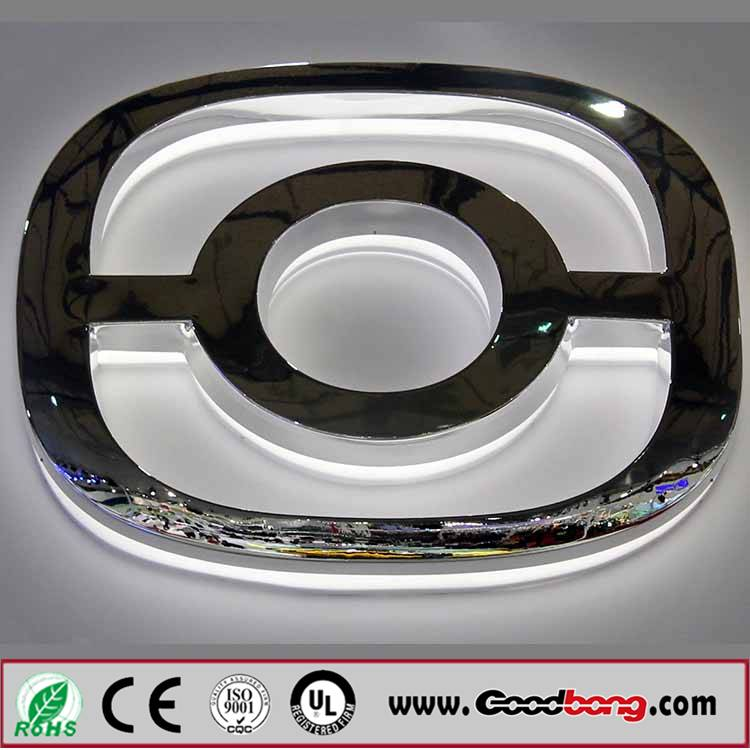 Indoor 4S store display famous brand car logo with light led box in high quality,standard
