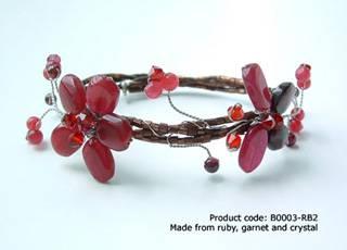 Red Ruby Butterfly Bracelet