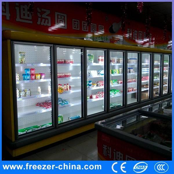 Glass Door Multi Deck Supermarket Refrigerator
